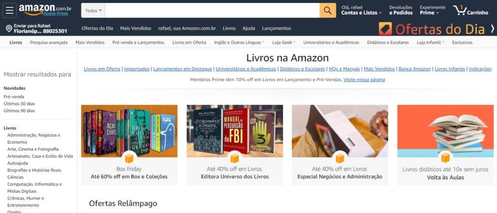 amazon onde comprar livros pela internet
