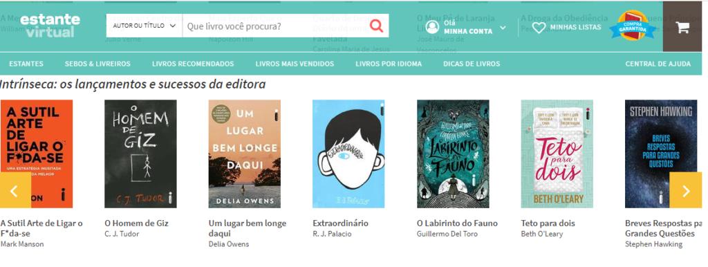 estante virtual como comprar livros na internet